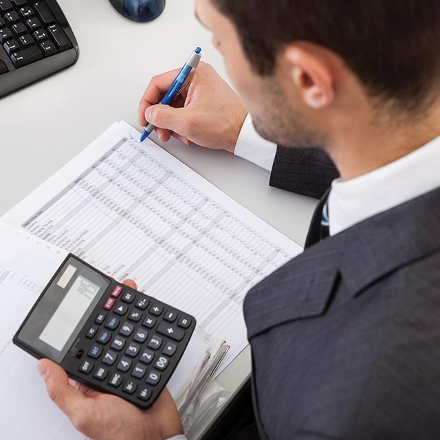 Accountant working