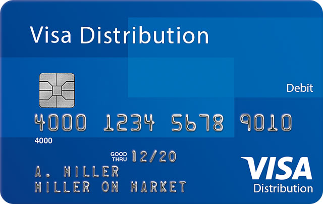 Visa Distribution Debit Card